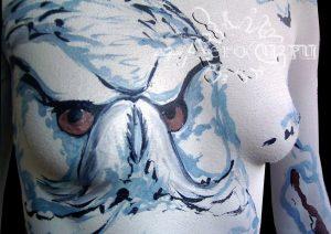 Боди-арт камуфляж Полярная Сова