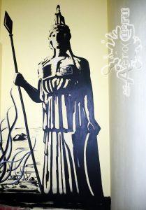 Роспись стены. Клуб Атлантис